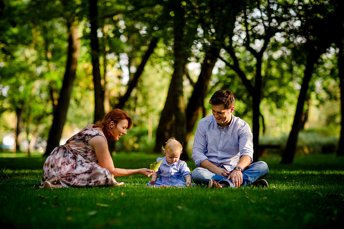 Family photography in the park in summer time