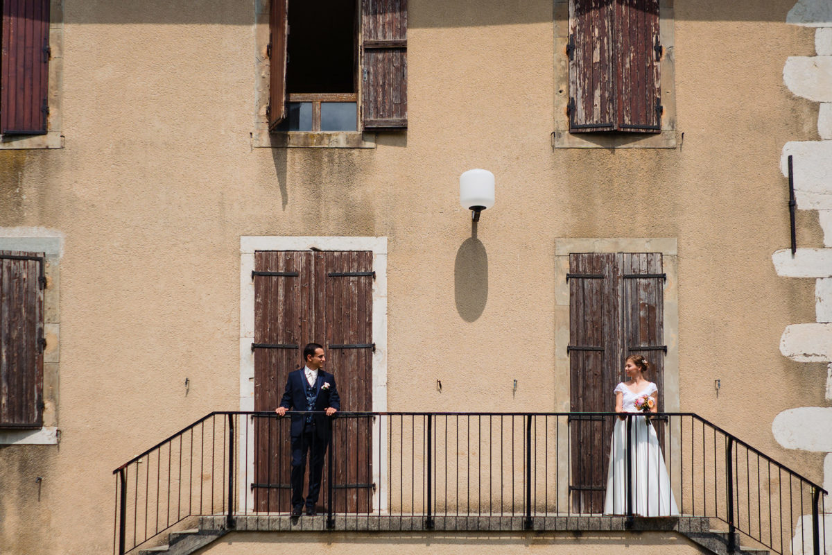 Bride and groom - Wedding in French Alps
