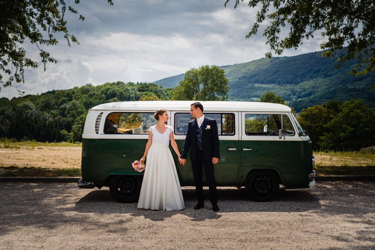 Cute car - Wedding in French Alps