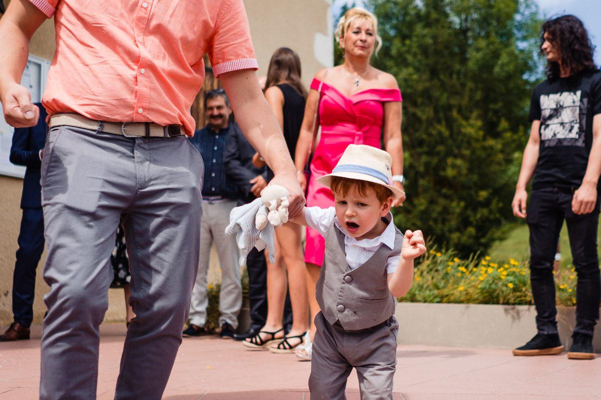 Little kid at wedding