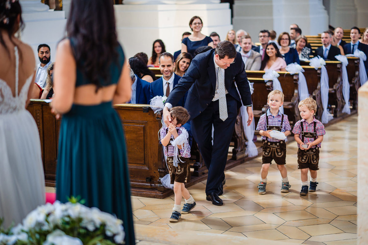 Little boys at Munich wedding