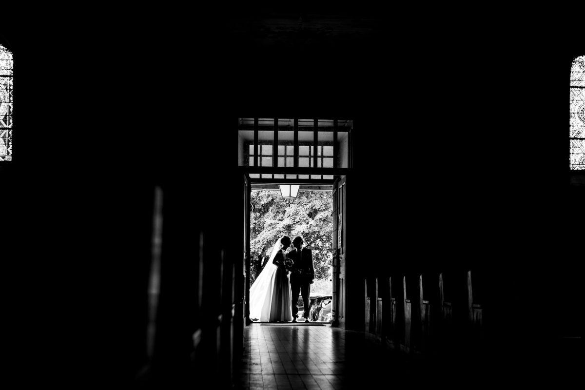 Bride and her father at the church