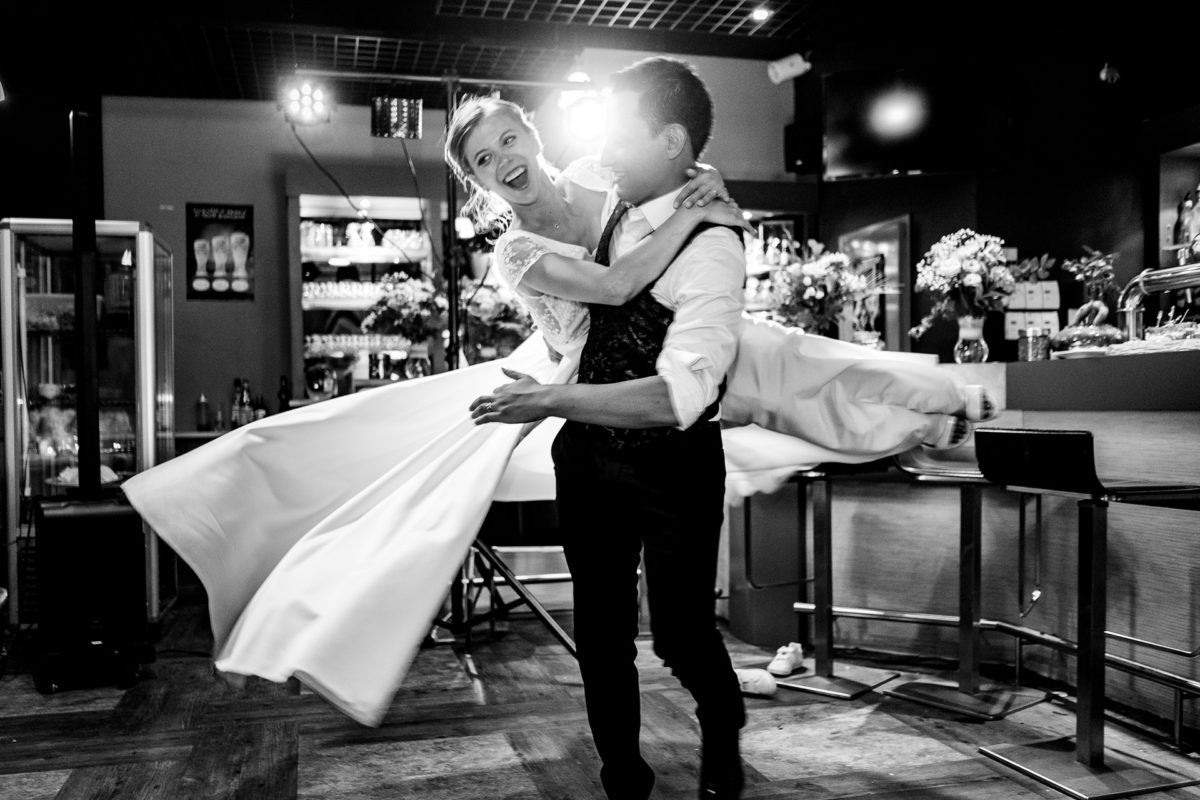 Bride and groom first dance - Wedding in French Alps
