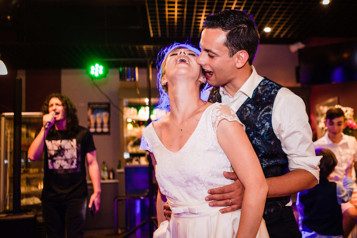 Bride and groom emotions - Wedding in French Alps