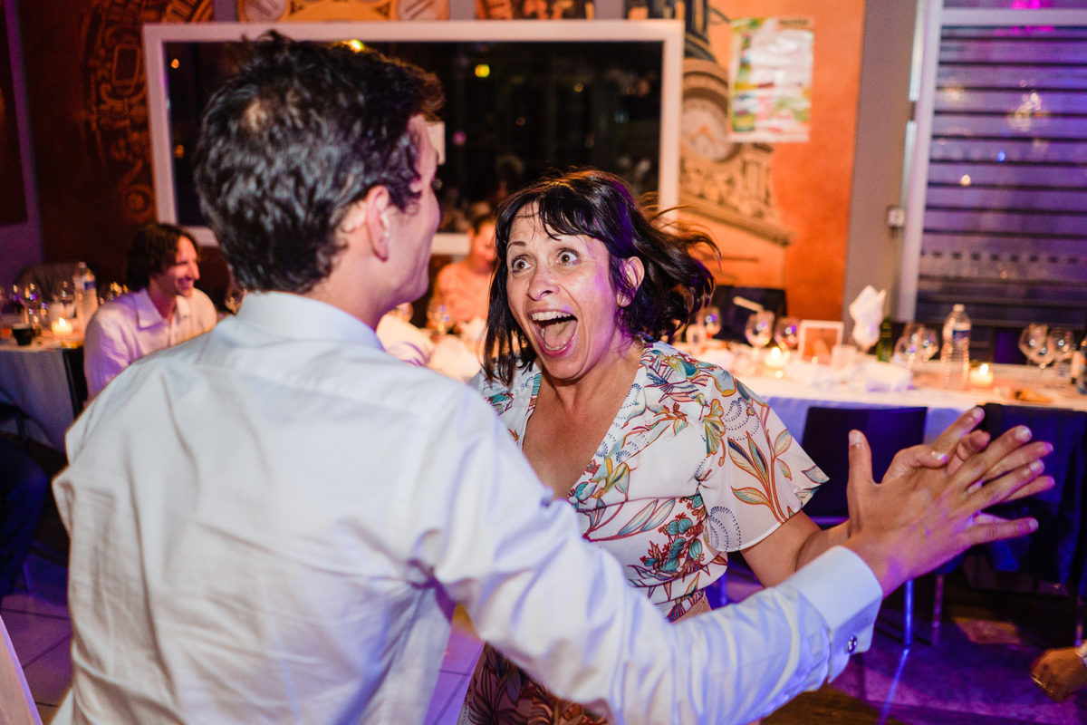 Mother of the groom has maximum fun - Wedding in French Alps