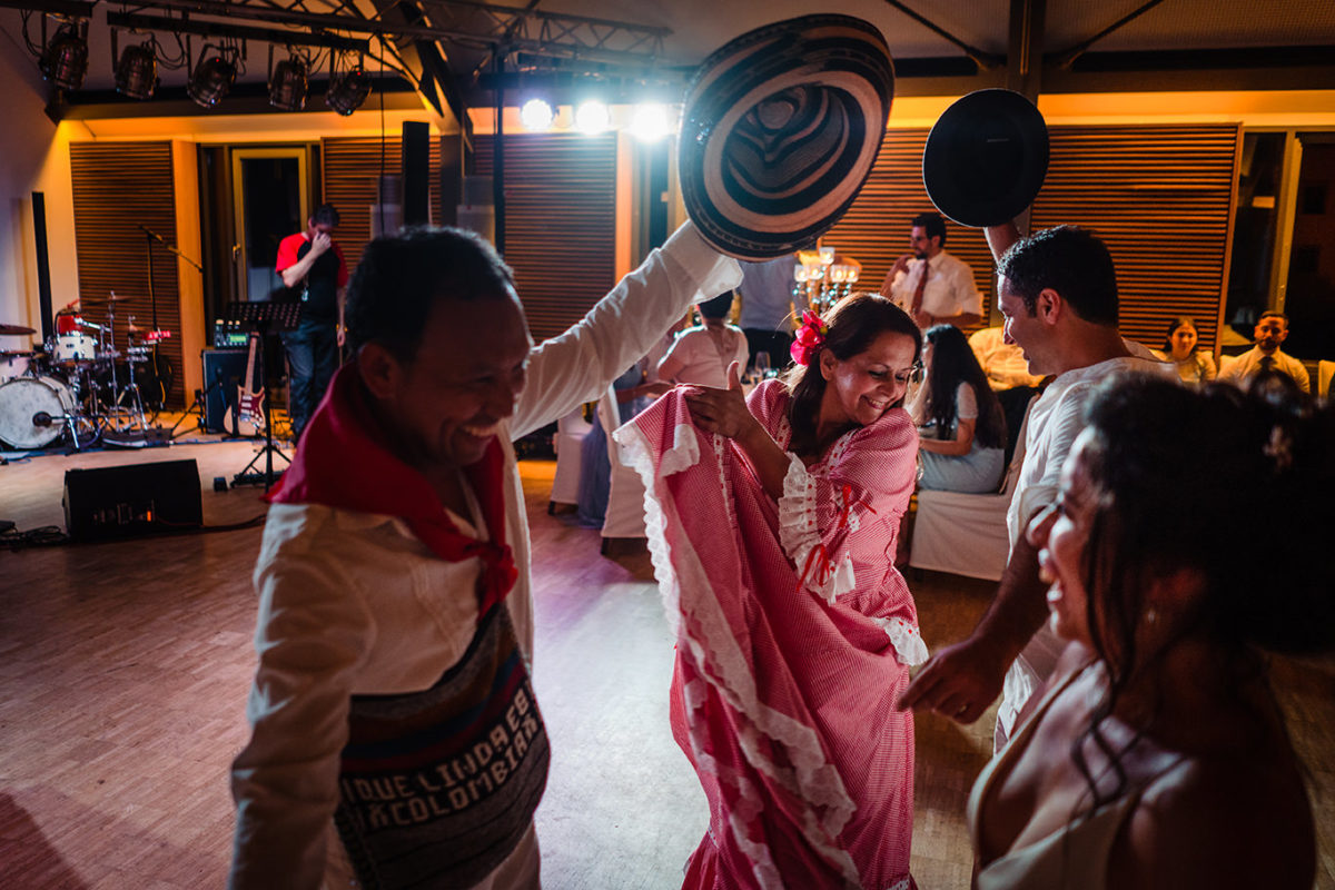 Traditional dance at wedding